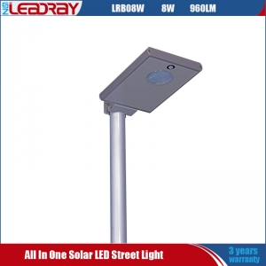 8 Watt All-In-One Solar Garden Lamp