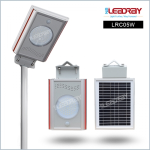 5W Mini integrated  solar patio light with motion sensor