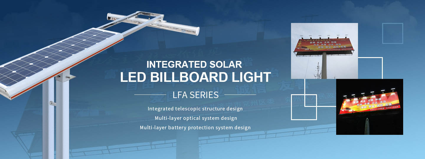 Integrated Solar Billboard Light Design