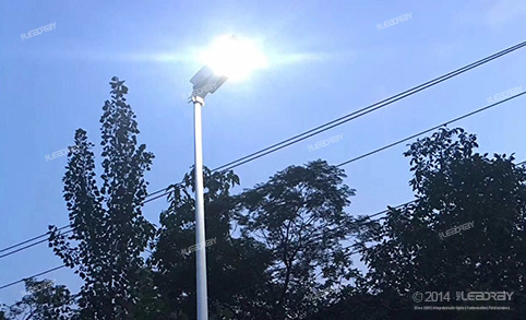 customized all in one street lights have been easily installed in Philippine Village Road