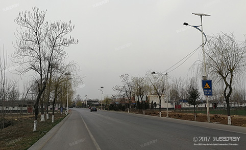 30W Separate Solar Street Light Installation Project in Dayu North Road