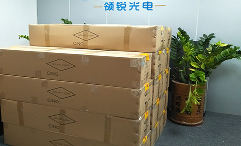 Leadray arrange the 14pcs 40W solar street lights's delivery to Panama!