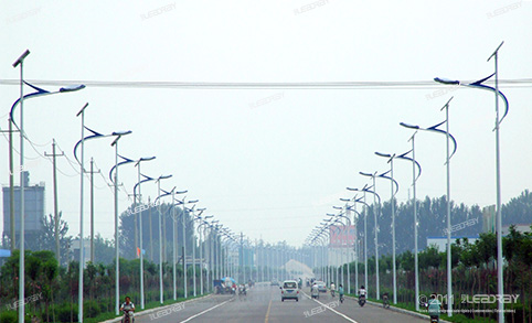 50W Separate Solar Street Light Installation Project in Yihai Road