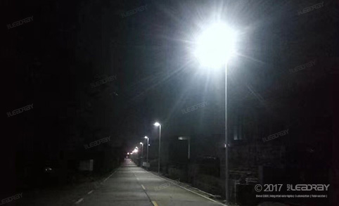 Leadray's 80 Solar Street Light All In One Change The Countryside's Night Sky Of Hunan Province After Being Installed