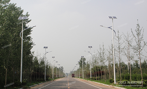 50W Semi- integrated Solar Led Street Light Used For Road Lighting Projects In Huayu,Shandong Province